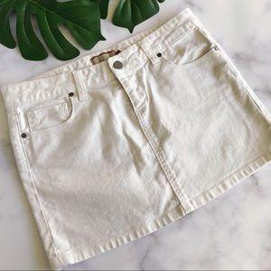 Paige canyon Denim Mini Skirt in Optic White